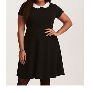 Torrid textured skater dress